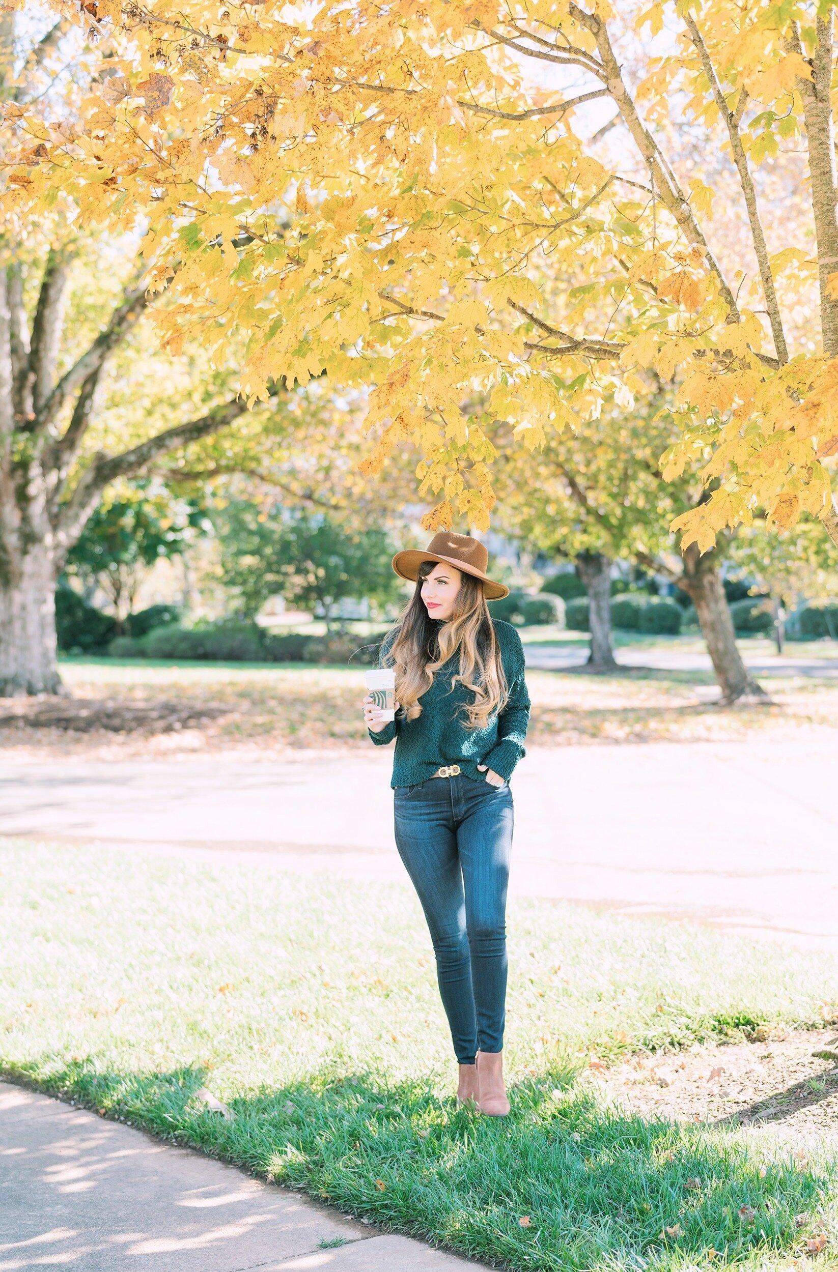 green crop sweater autumn leaves.JPG