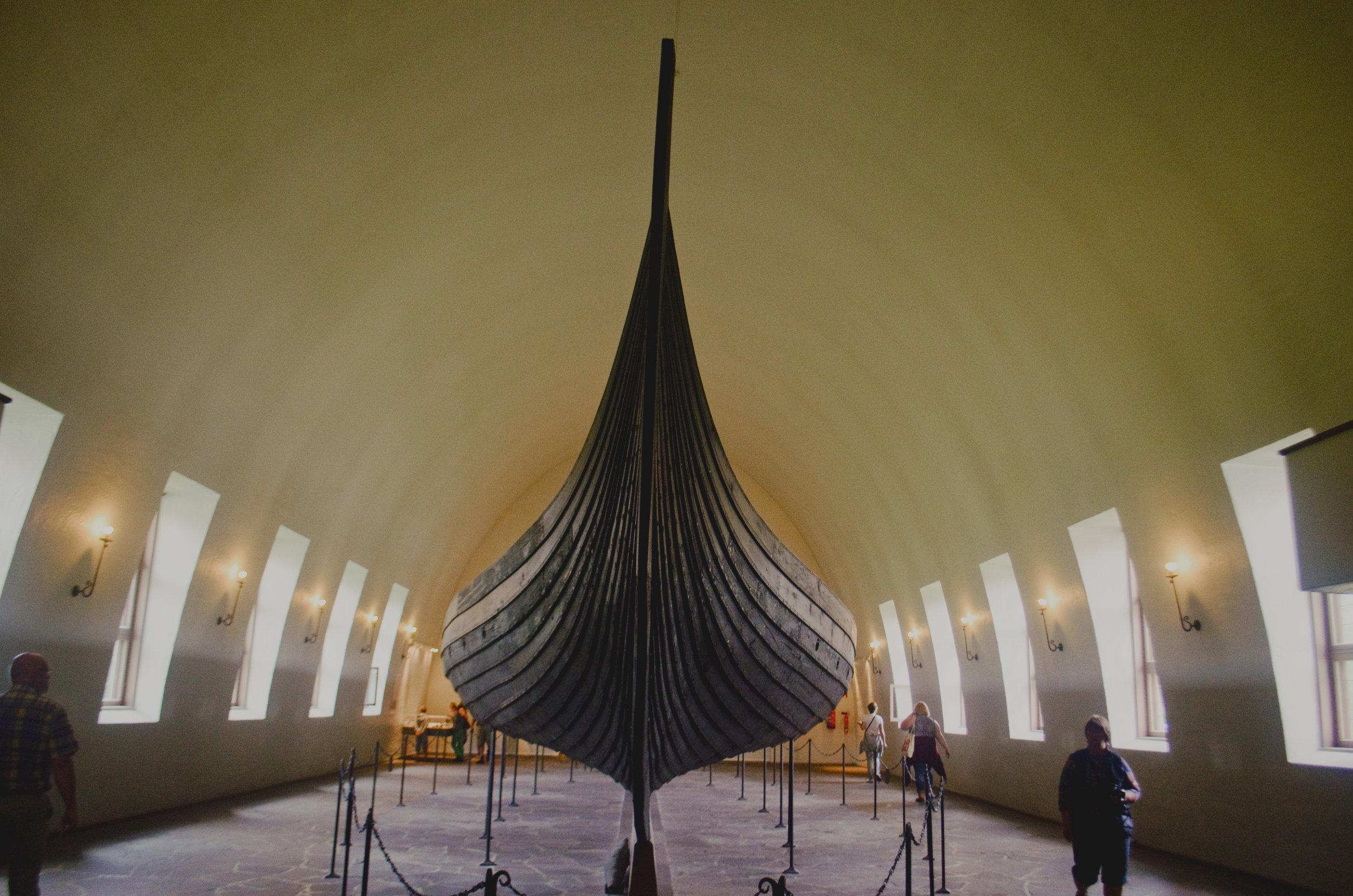 The most popular angle of the Gokstad ship