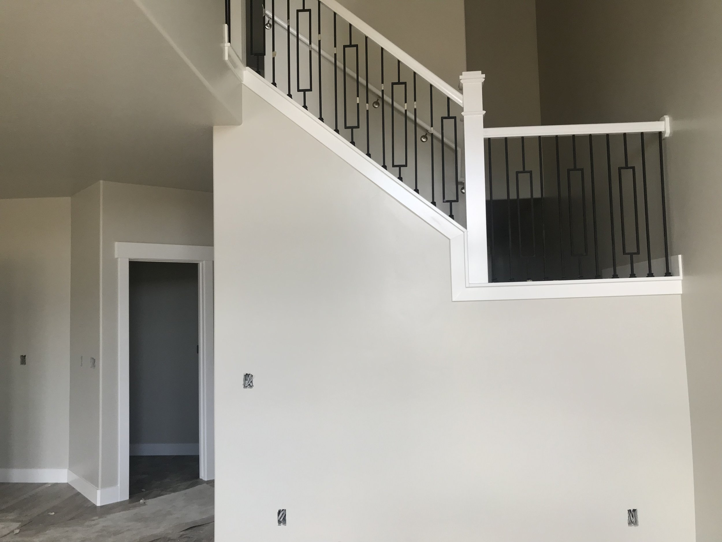 View of the railing from the living room area.