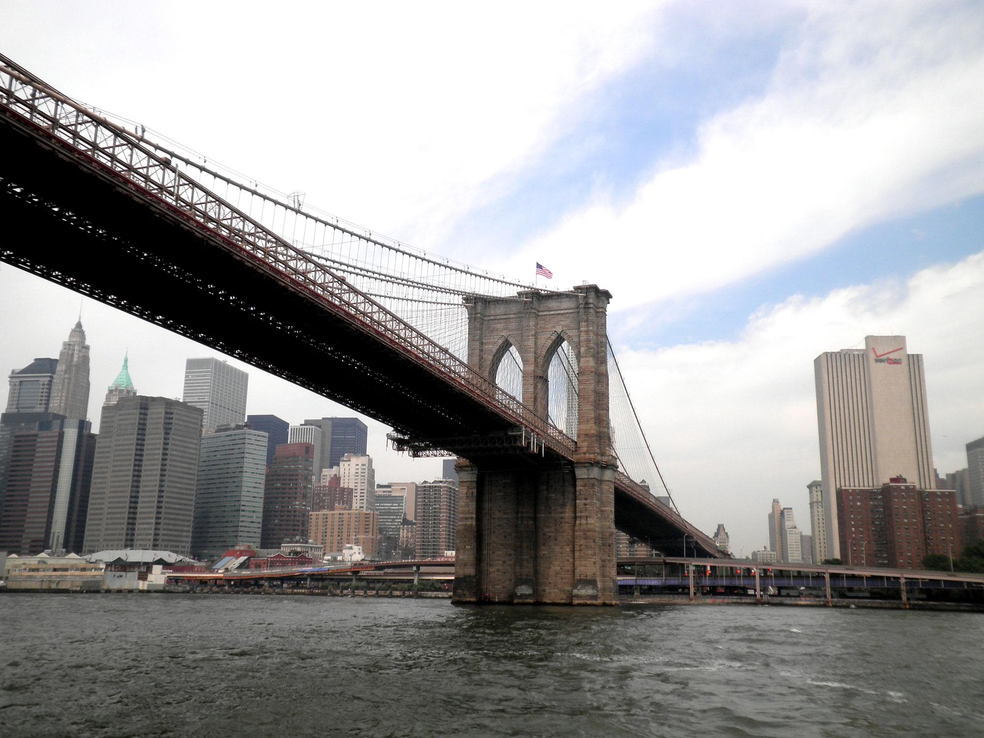 The iconic Brooklyn Bridge, New York City