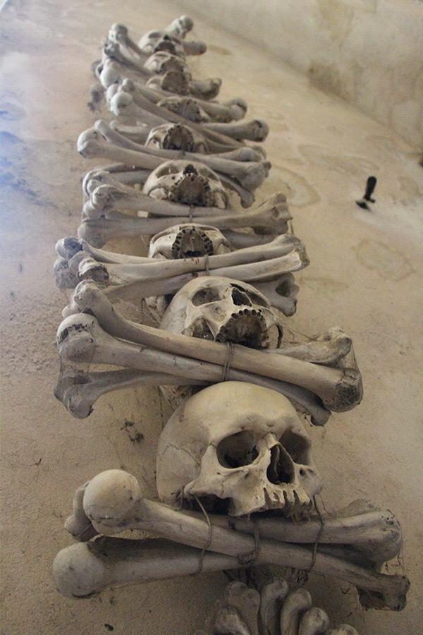 Skulls at the Sedlec Ossuary