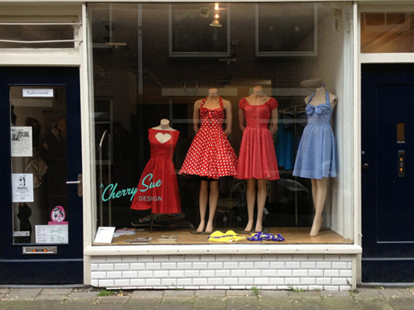 Shop window at Cherry Sue