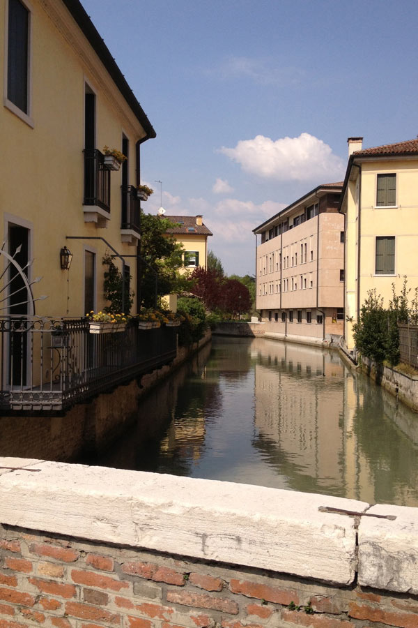 A canal in Treviso, Italy
