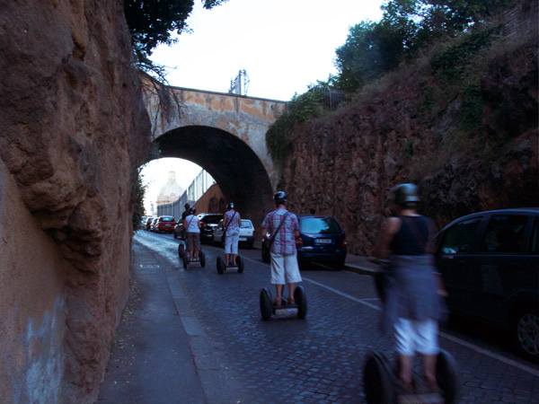 Segway riders at The Forum in Rome