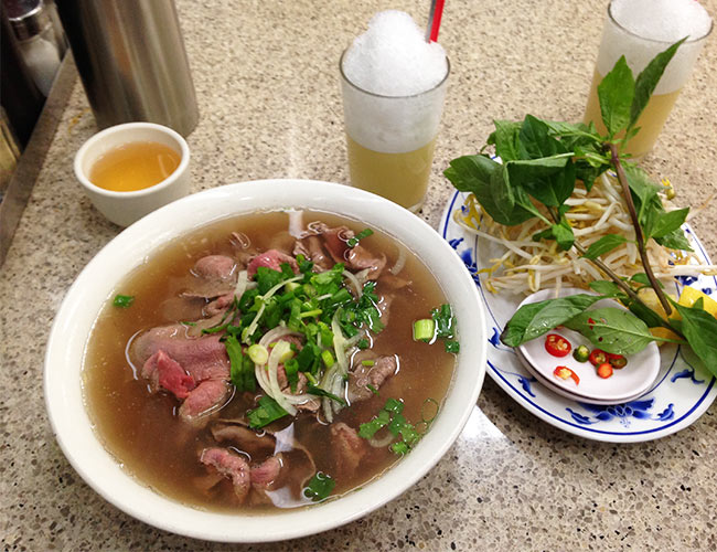 Beef pho at Pho Hung Vuong