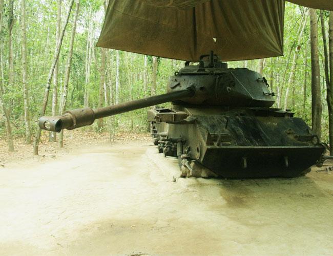 Tank at the Cu Chi Tunnels, Vietnam