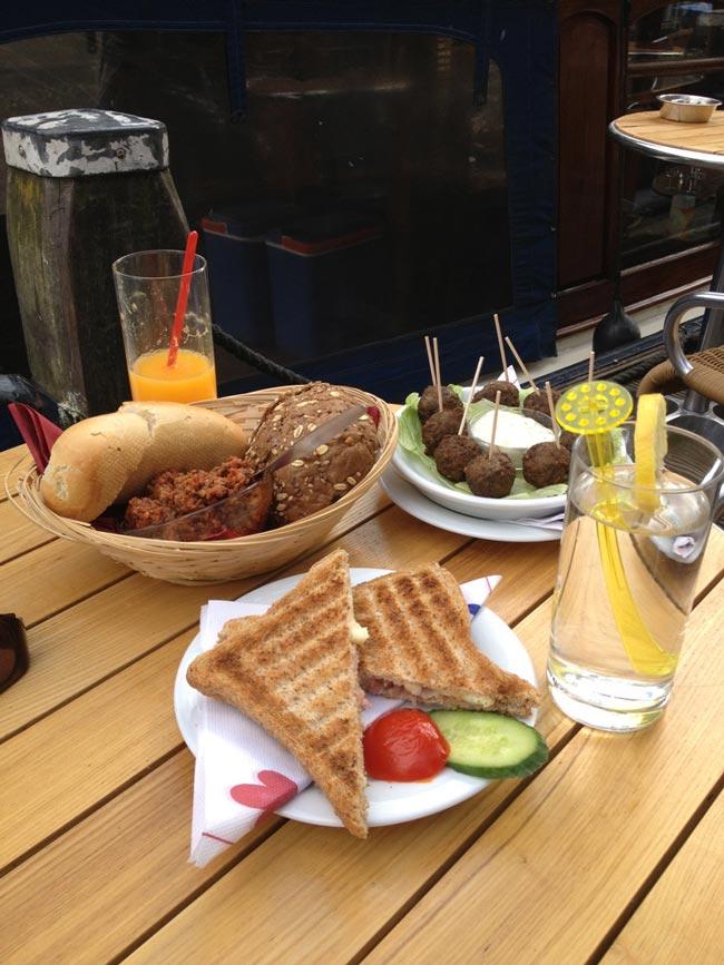 Amsterdam riverside restaurant