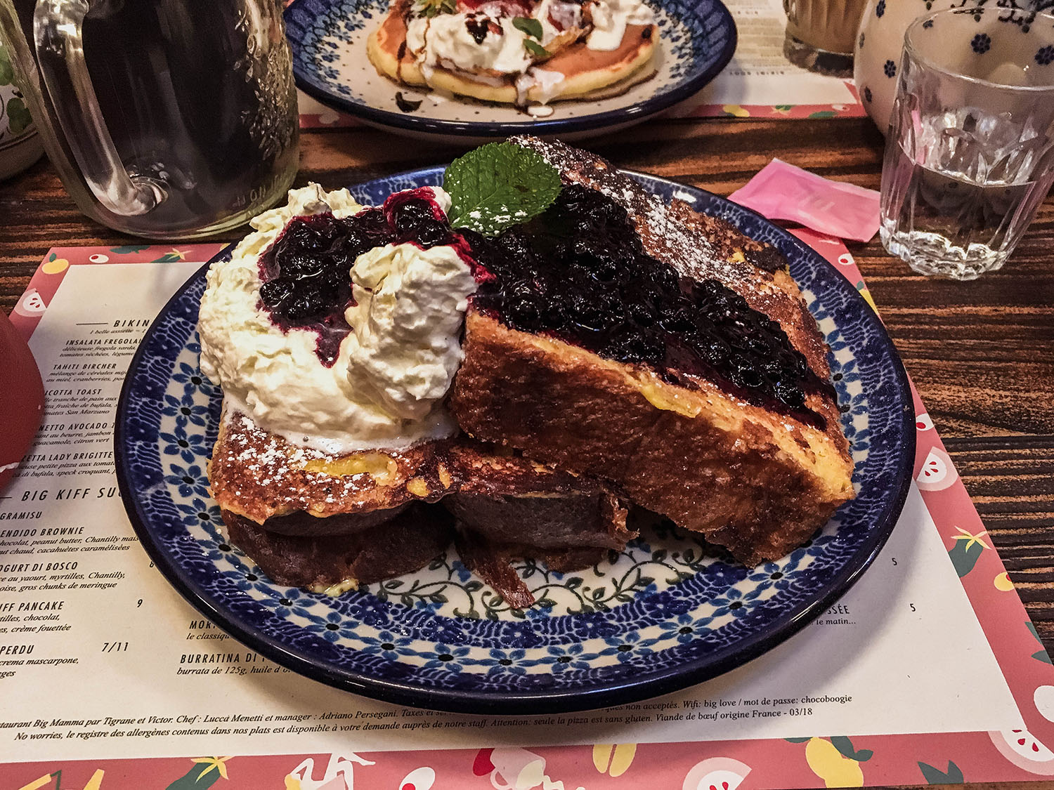 Delicious pain perdu from Big Love Cafe