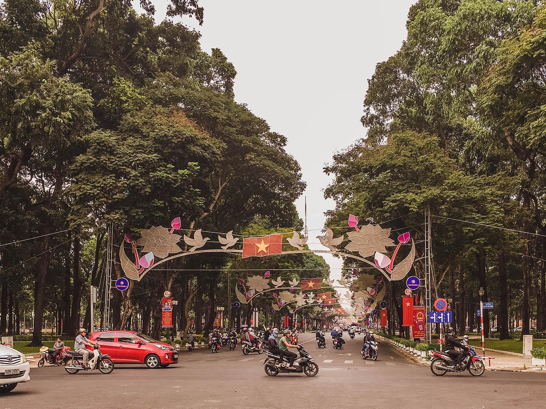 Ho Chi Minh City streets.