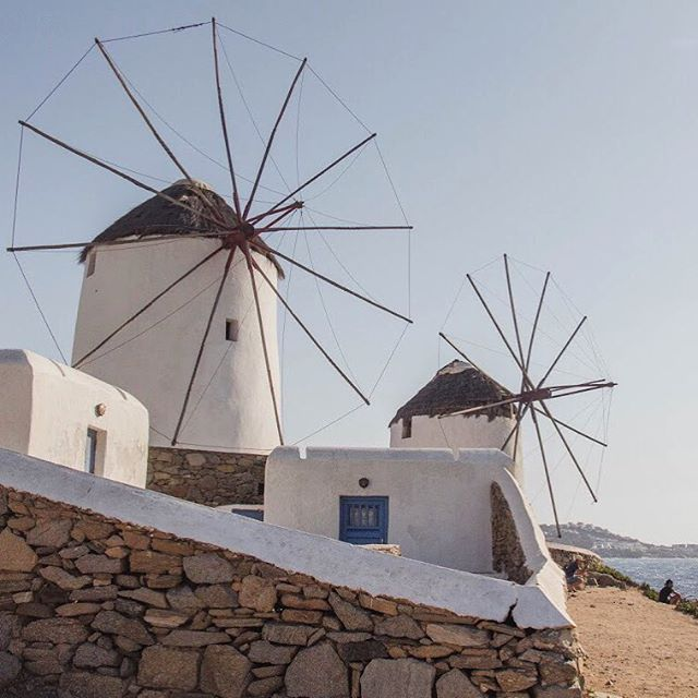 Those famous #mykonos windmills. What the picture doesn't tell you is that the winds were so strong up on that hill that most people could only stay for as long as it took to take a quick snap before escaping back down to the seaside restaurants and bars #windmills #visitgreece