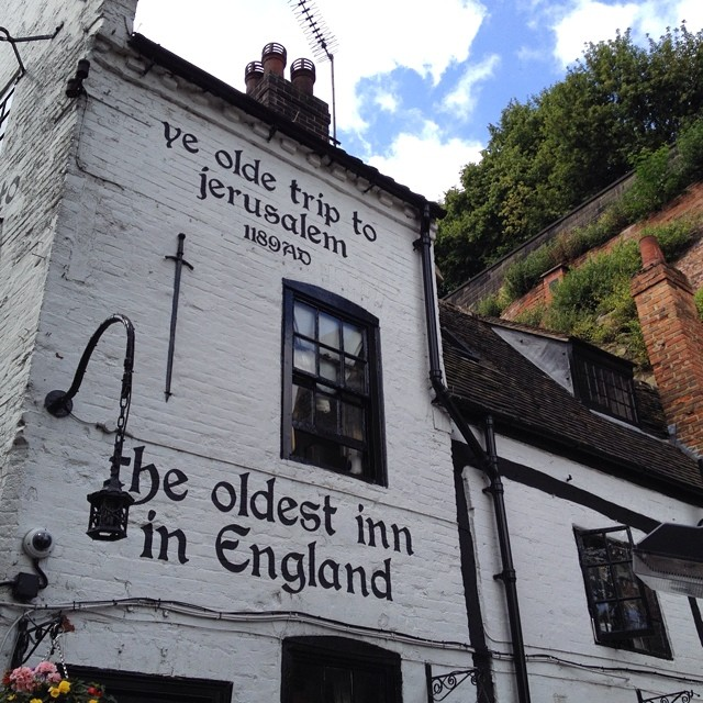 Oldest pub in England. #lunch #tourism  http://ift.tt/1yRDB8o