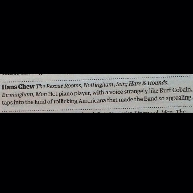 Pick of the week in the @guardian. Birmingham @hareandhounds tonight. Always did like Nirvana…  http://ift.tt/1llnHLg