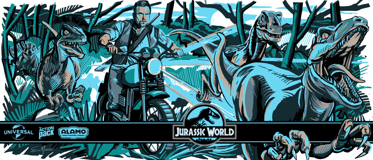 Alamo Drafthouse - Jurassic World Pint Glass