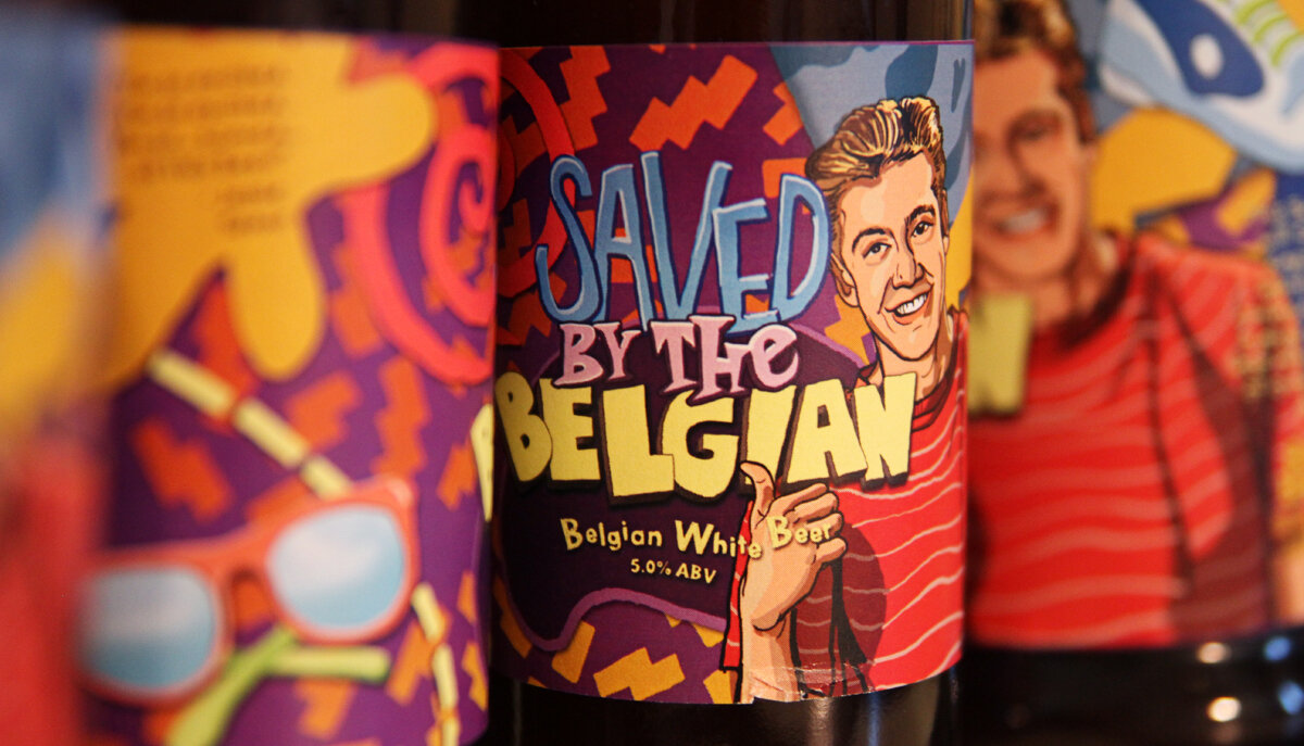 Saved by the Belgian - Beer Label