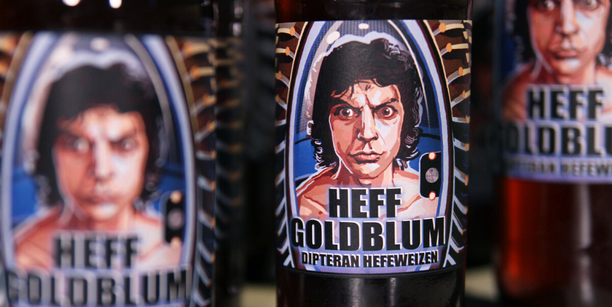 Heff Goldblum - Beer Label