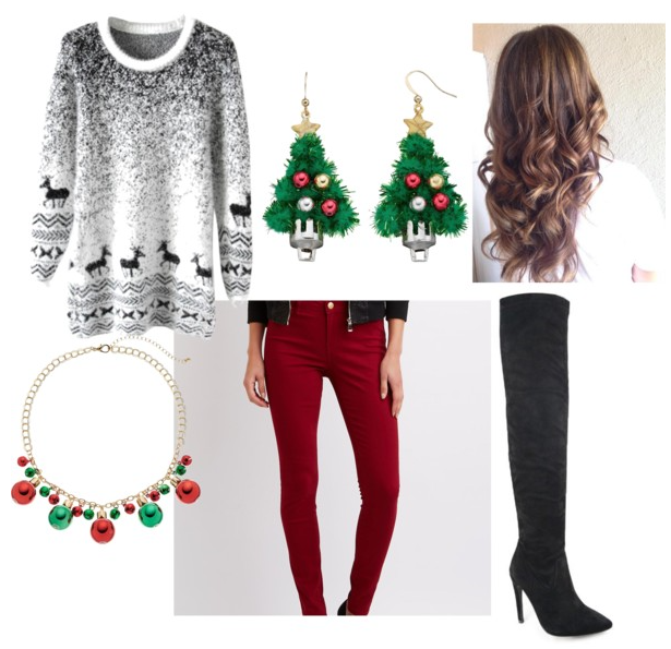 Ugly but Cute Christmas Party Outfit