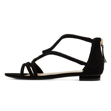Low Heels Black Sandals