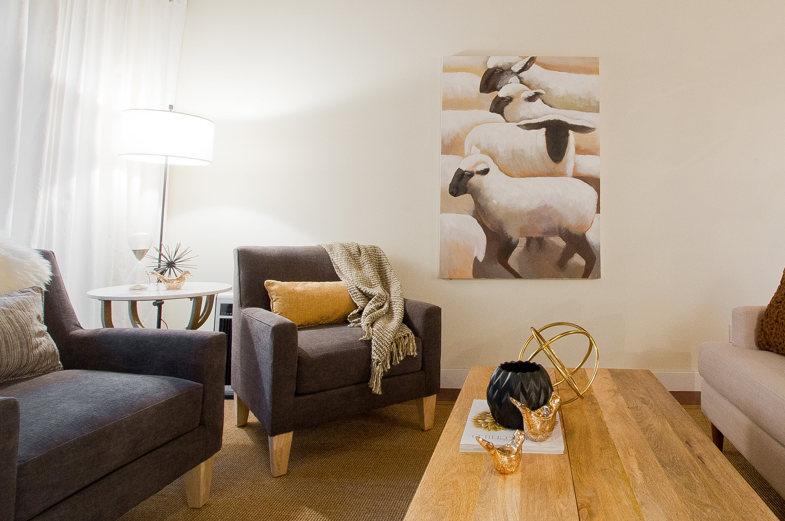 Elaine was professional, supportive, fun and flexible along the way and worked to our timeline. Elaine has a knack for identifying a client's taste and style and incorporating that into the design. She has a great sense of colour/style and helped us create a truly amazing space. We both enjoyed our time working with her. The end result is a masterpiece that we will enjoy for many years to come. I would highly recommend Elaine for any large or small project. She is a gifted designer and has now become a friend. We will be calling her again for future projects.    — Jennifer & Ronan Deane