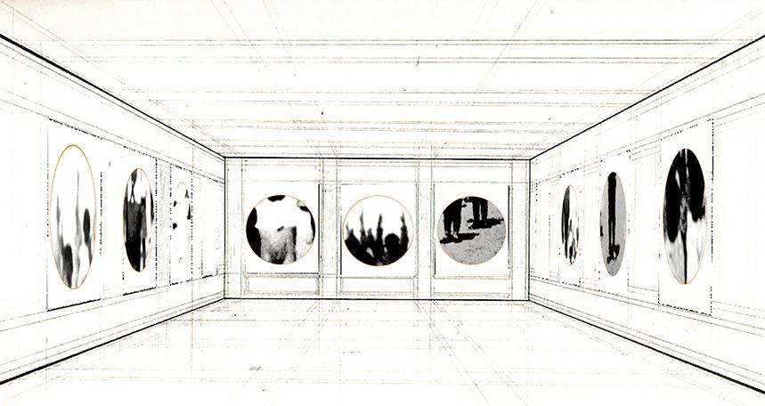 Boceto partiendo de dibujo de Gerhard Richter.