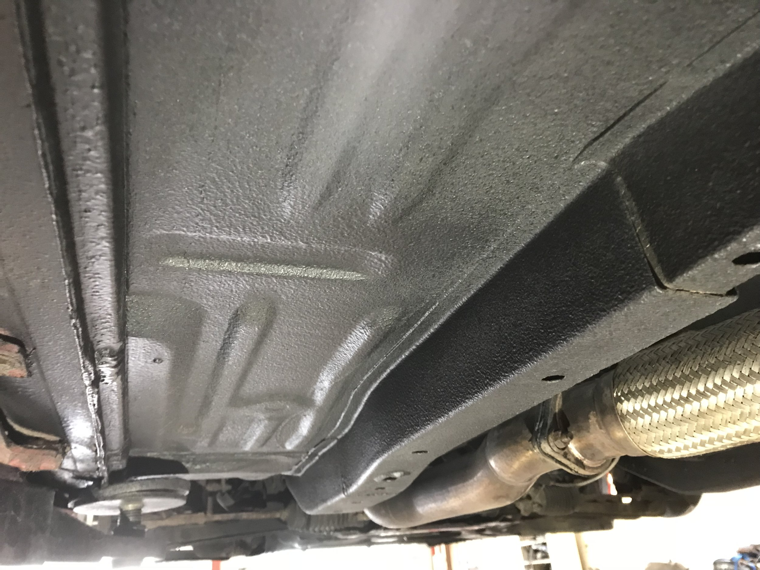 Pristine underbody with no repair welds