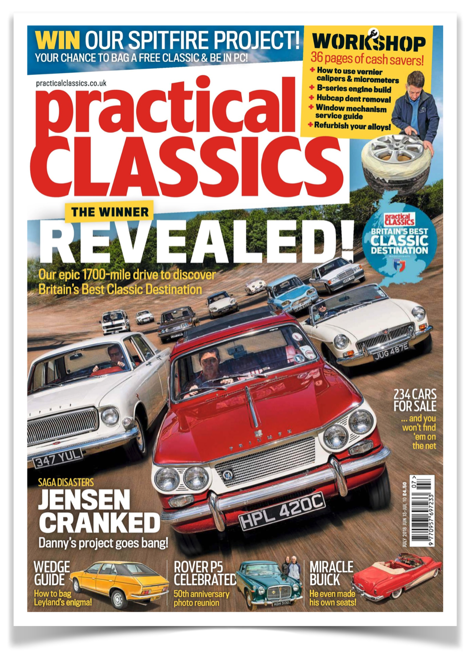 Featured in the July 2018 edition of Practical Classics Magazine