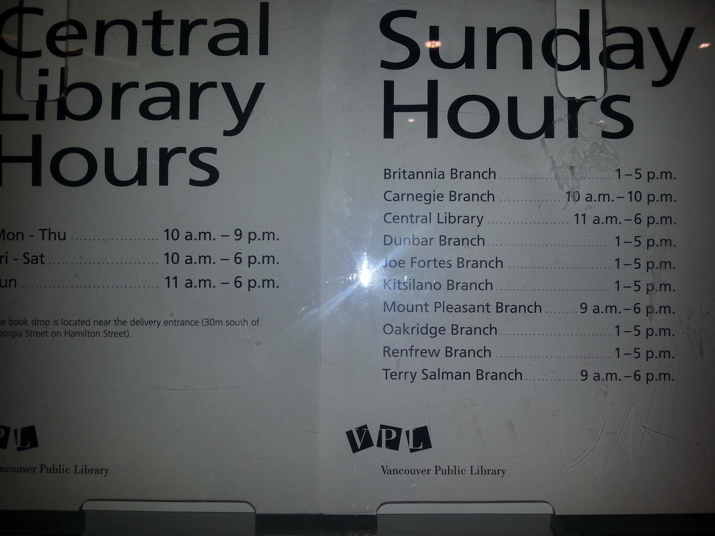 Vancouver Libraries