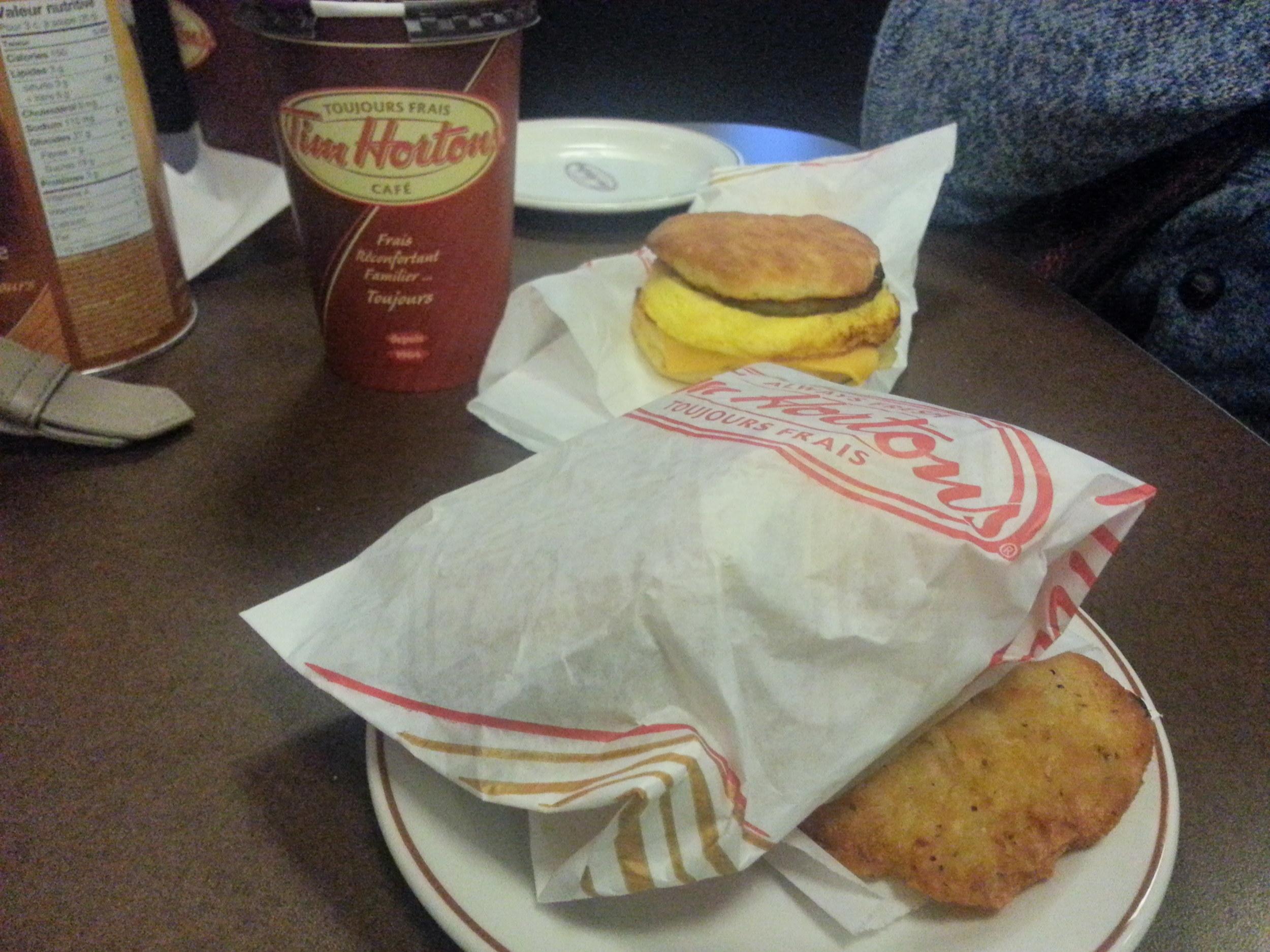 Horton's for breakfast