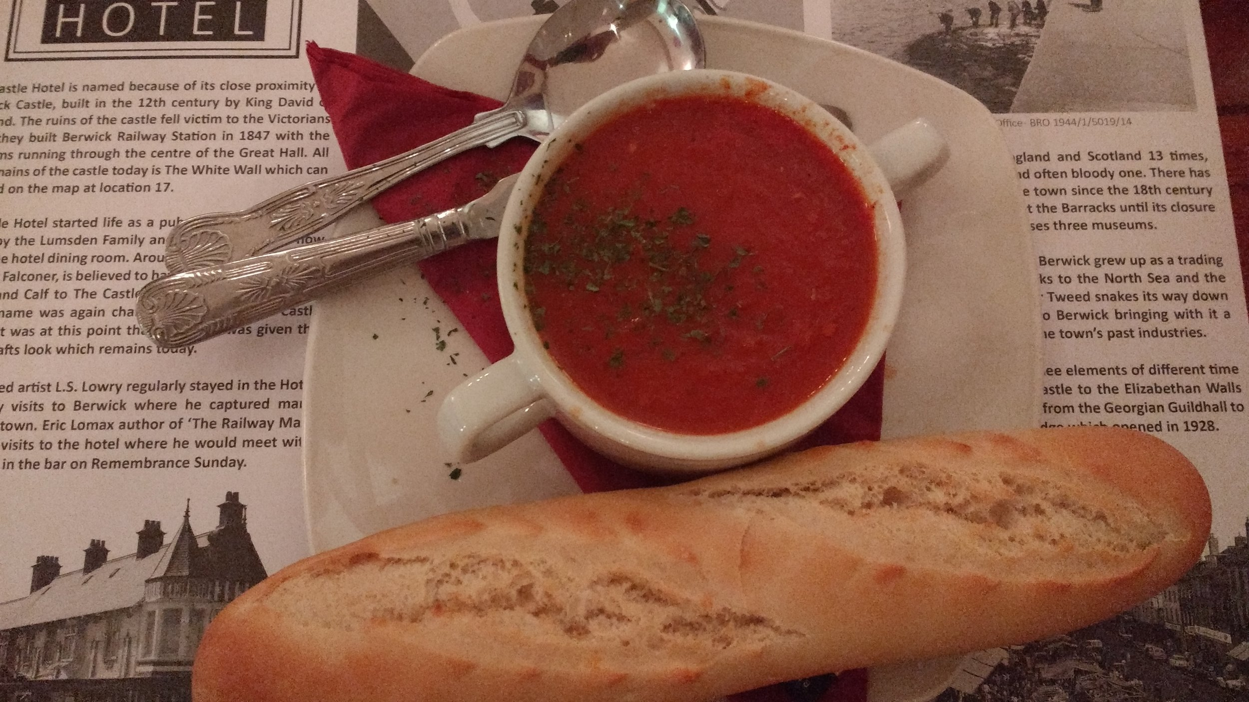 Soup and bread - The Castle