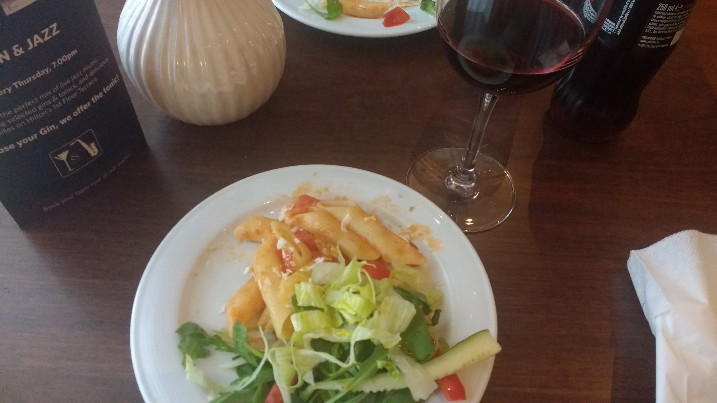 Evening snacks at Athenee Palace Hotel