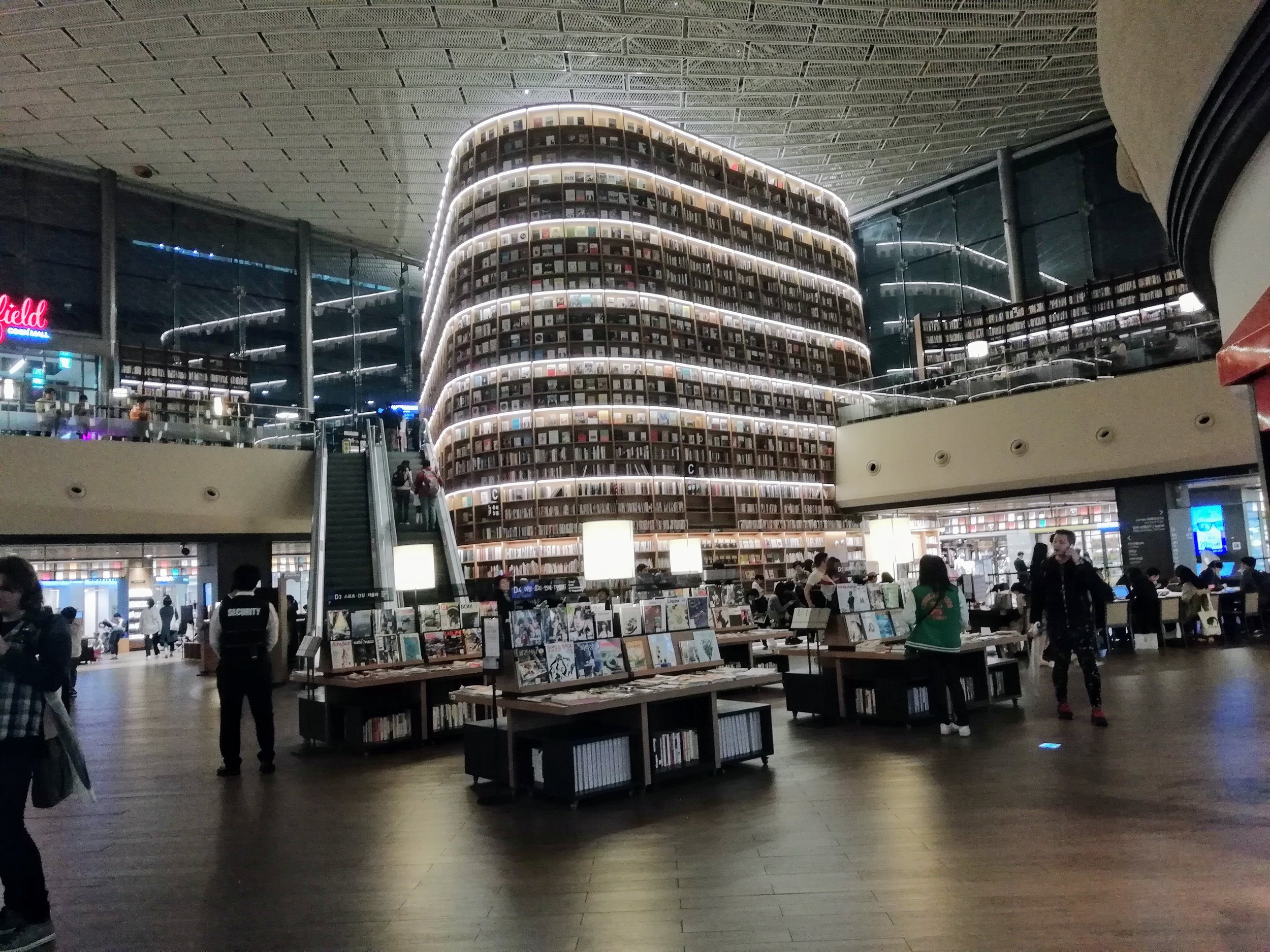 Library in a shopping centre