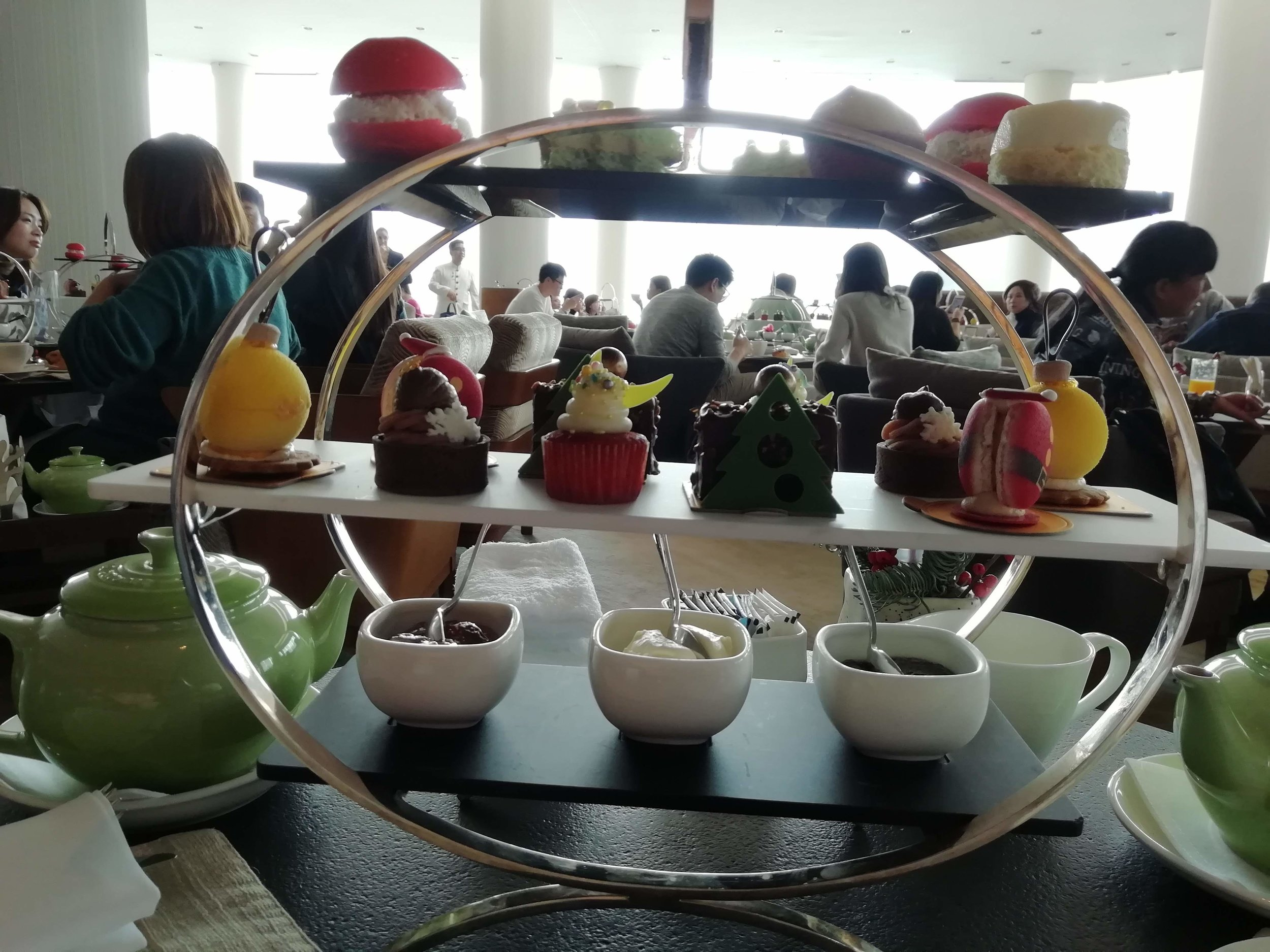 Afternoon Tea at the Intercontinental looking out to Victoria Harbour