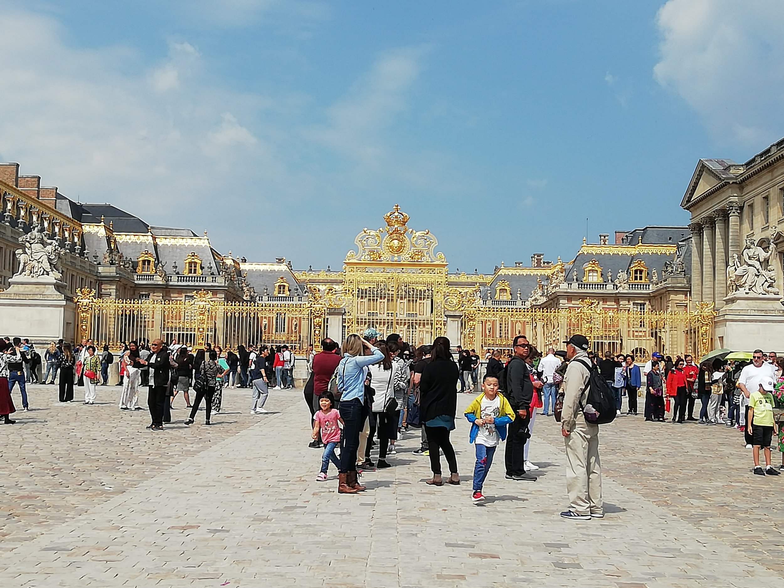 The quiet time at Palace of Versailles