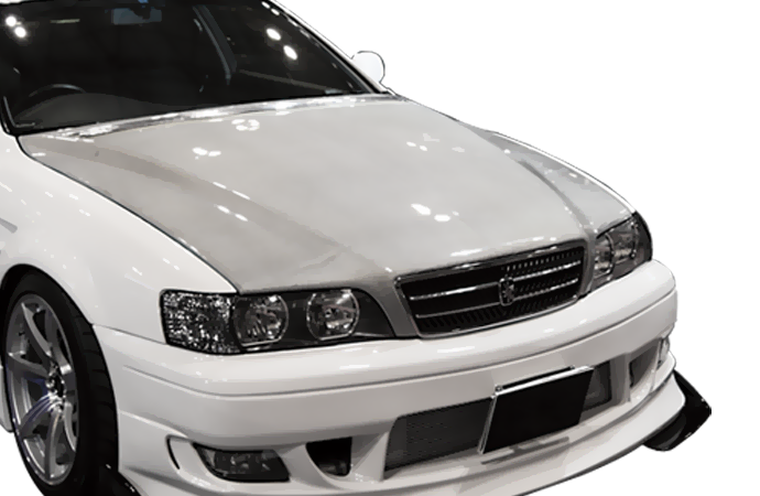 SILVER CARBON AERO BONNET - TYPE 2 - TOYOTA JZX100 CHASER