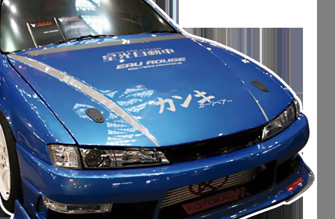 CARBON AERO BONNET - TYPE 2 - NISSAN S14 Kouki
