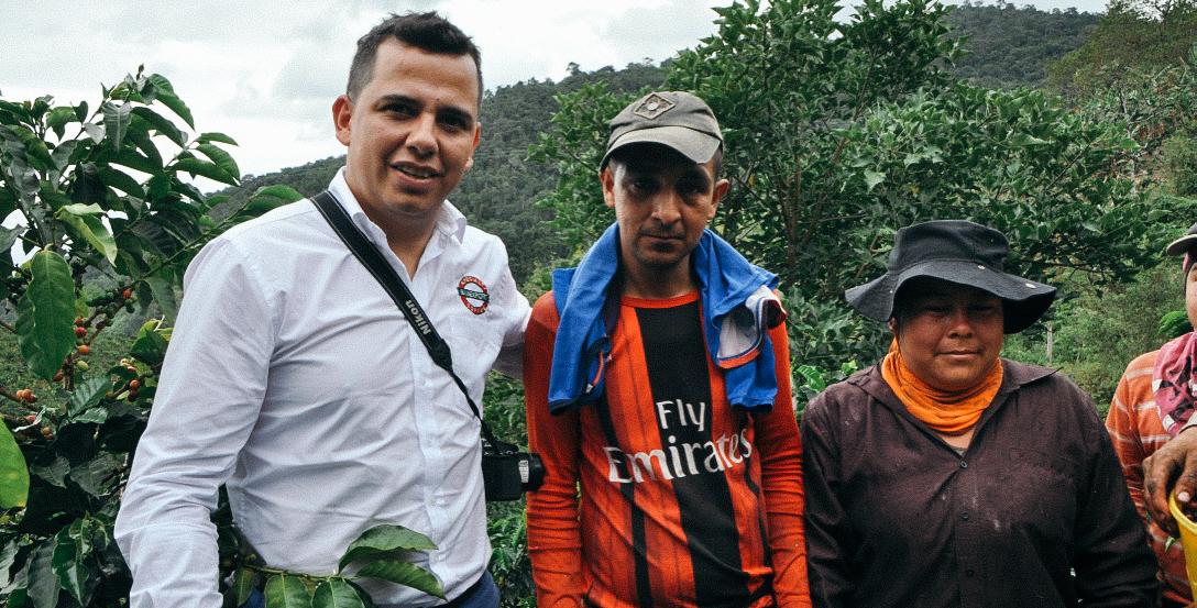 - Elkin Guzman & the pickers of the farm