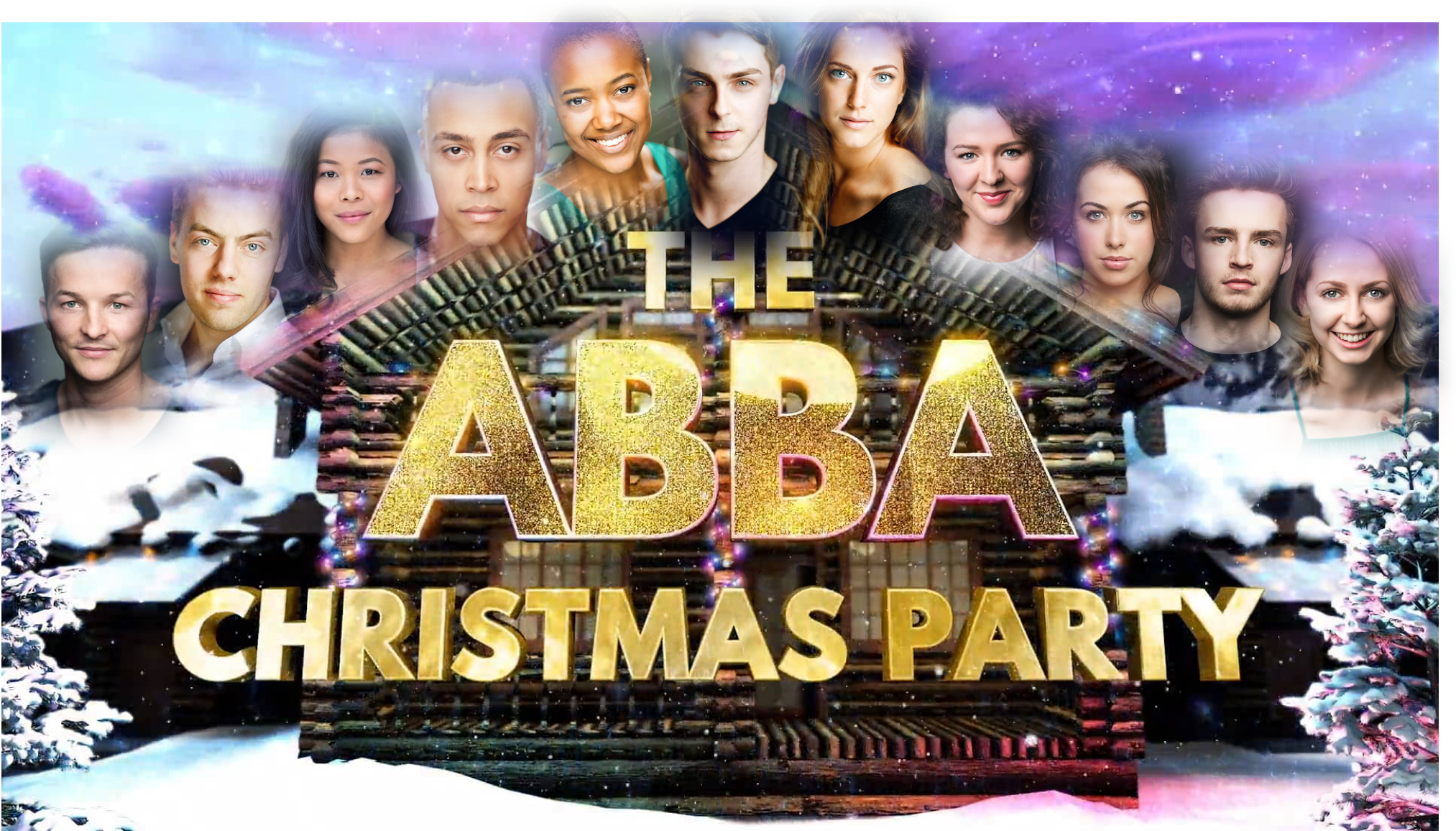 Current Urdang students can be seen joining the Abba Christmas Party on ITV