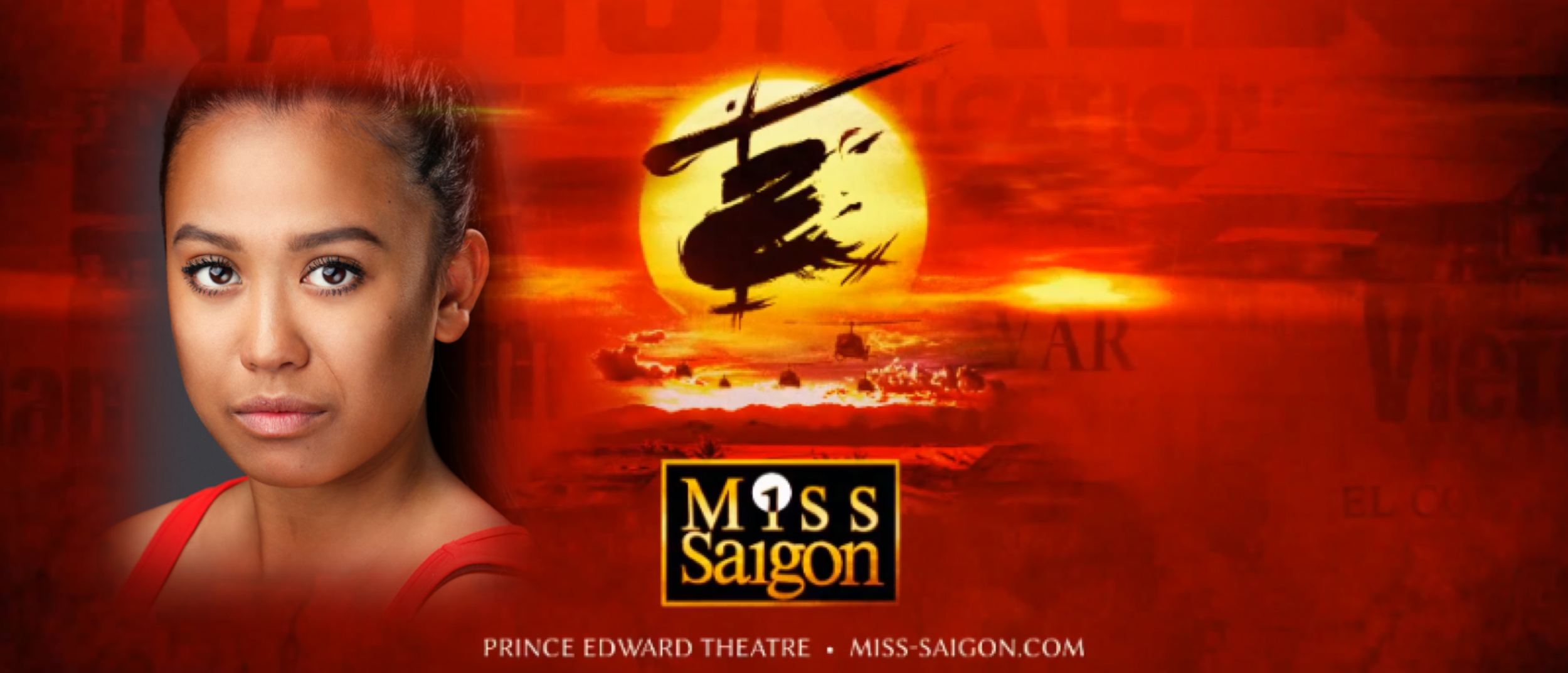 Katherine Picar can be seen on the Prince Edward Theatre stage performing as ensemble in Cameron MacKintosh's Miss Saigon