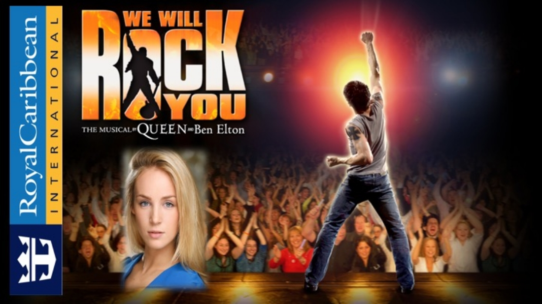 Hannah Caporn rocks out in Royal Caribbean's We Will Rock You
