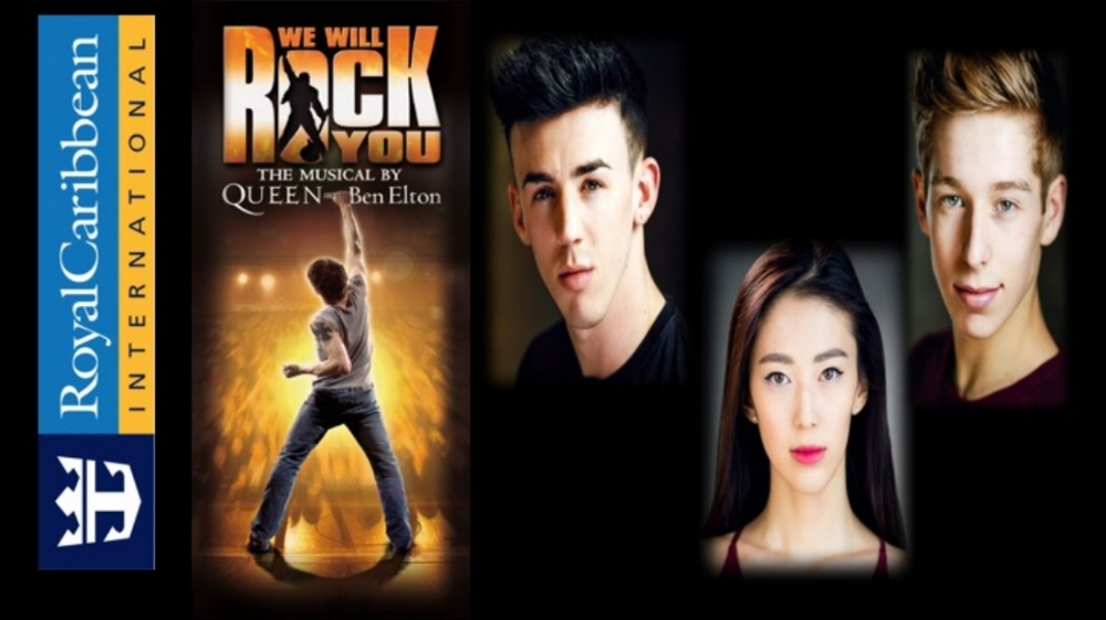 Jack Dragan, Lily Wang and Sam Shaw all head to America for Royal Caribbean's We Will Rock You