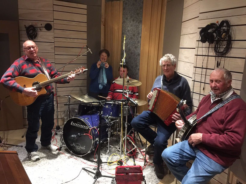 JULY 2017 - Australia's longest-running band (62 years and counting), The Crooked Corner Band, was in the studio recently recording The Binda Heel & Toe Polka for a forthcoming community CD release later in the year for the Dame Mary Gilmore Society