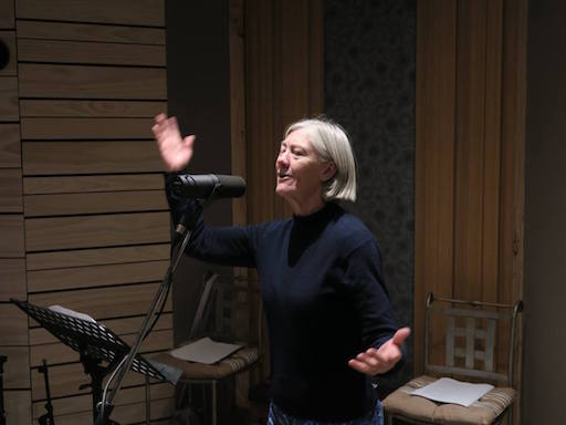 "JUNE 2017 - The ""Binalong Bard"", Australian bush poet Robyn Sykes was recently in the studio recording 27 poems for her 2nd CD release."