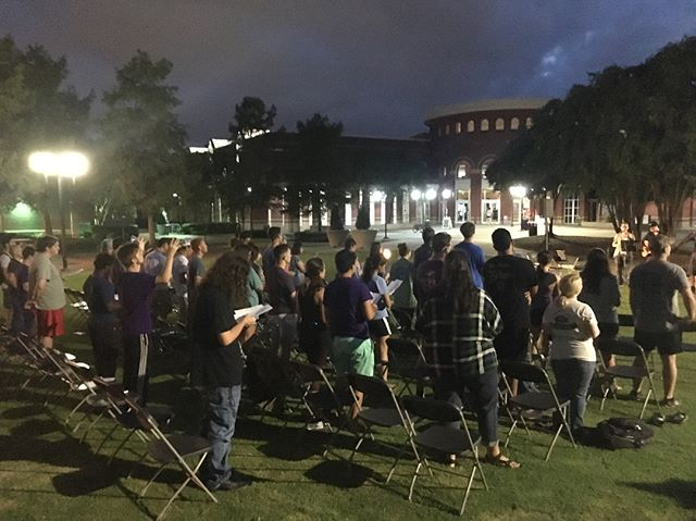 Thank you to everyone who came out to fellowship with us last night for our first large group! We just want to remind everyone that we will be playing Glow Stick Capture the Flag tomorrow night at 8:30 PM on the mall.
