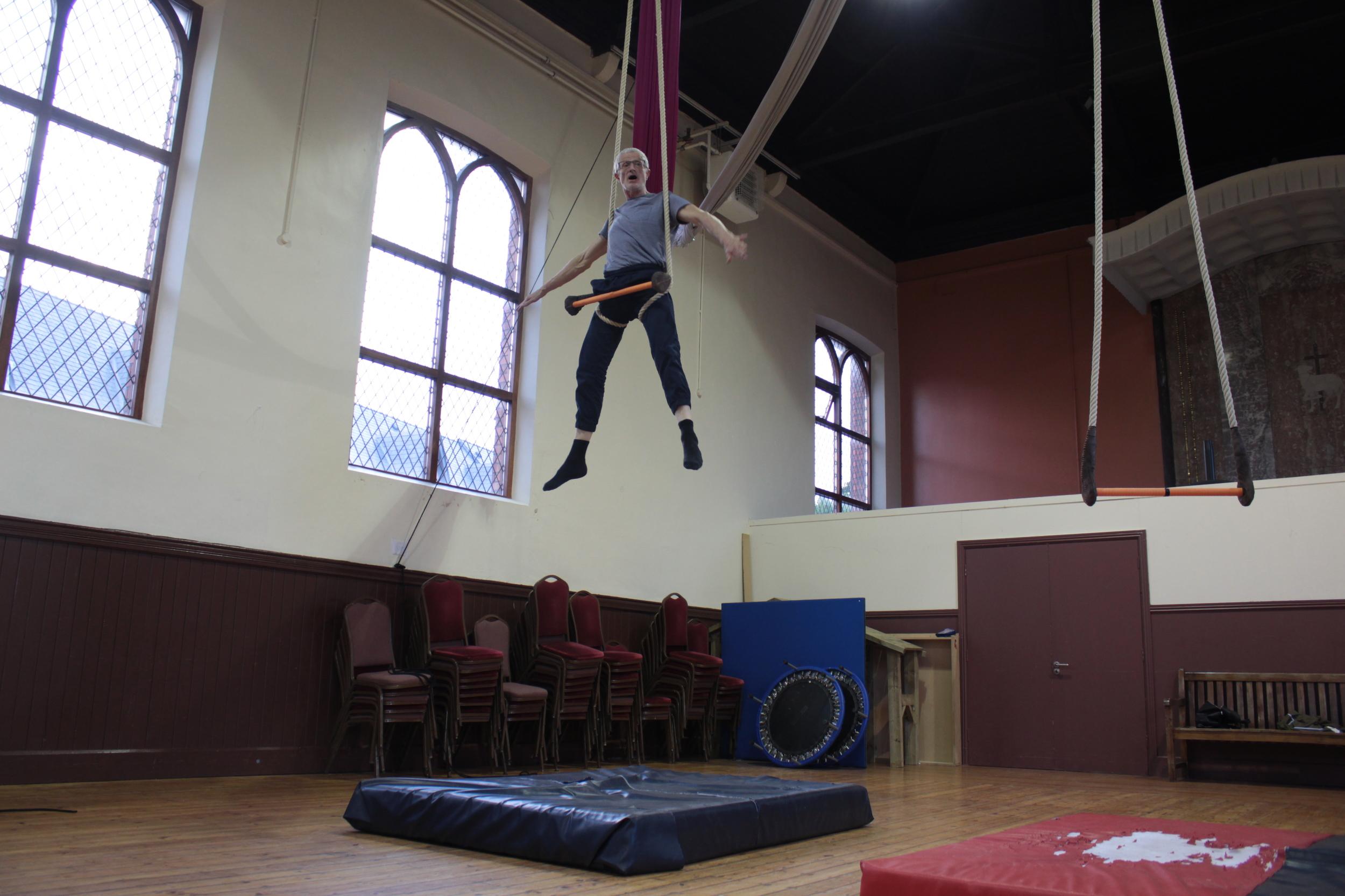 Bernard Bru (AUS/ FR), Static Trapeze Workshop: July 2016
