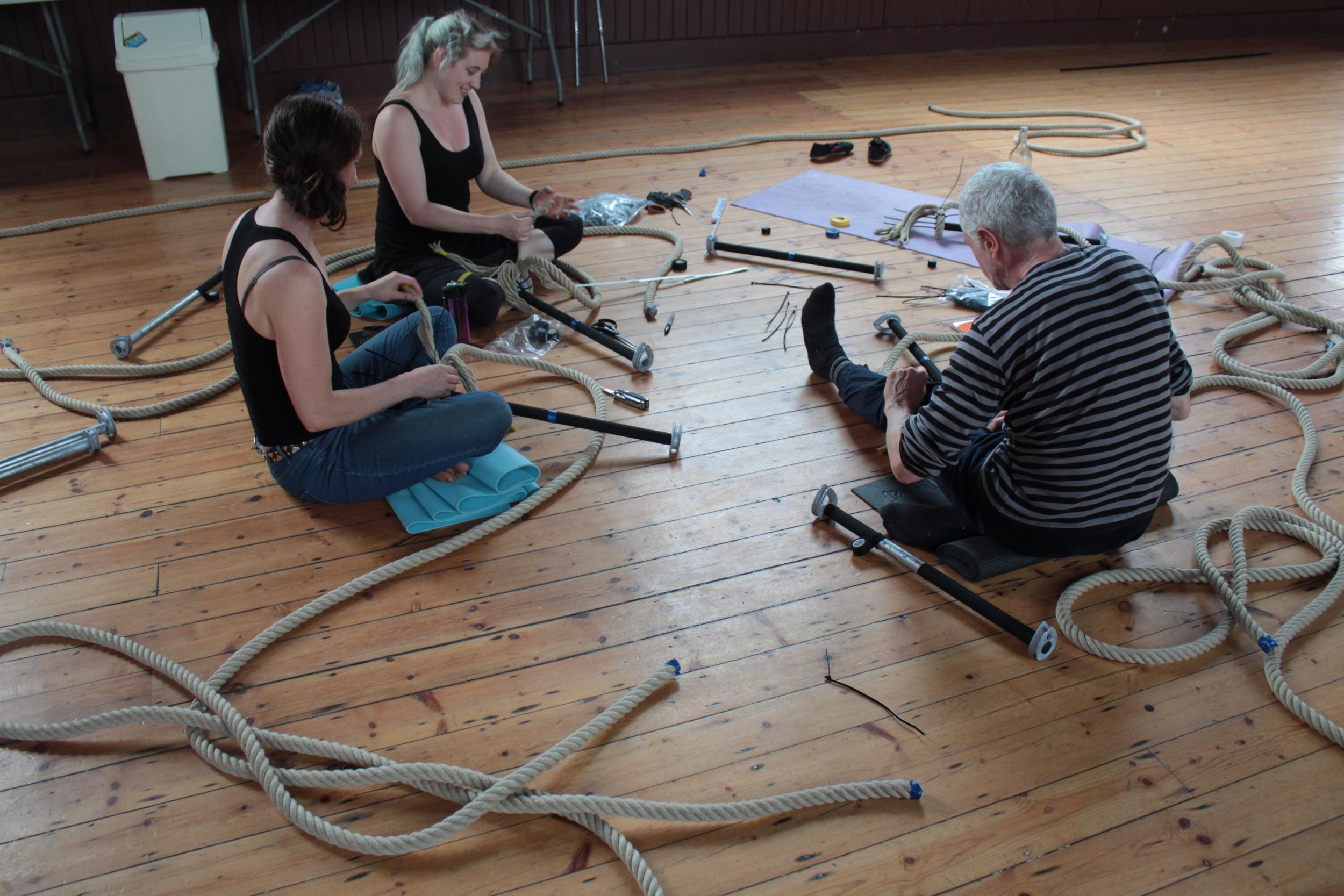 Bernard Bru (AUS/ FR), Building Trapeze & Rope workshops, July 2016