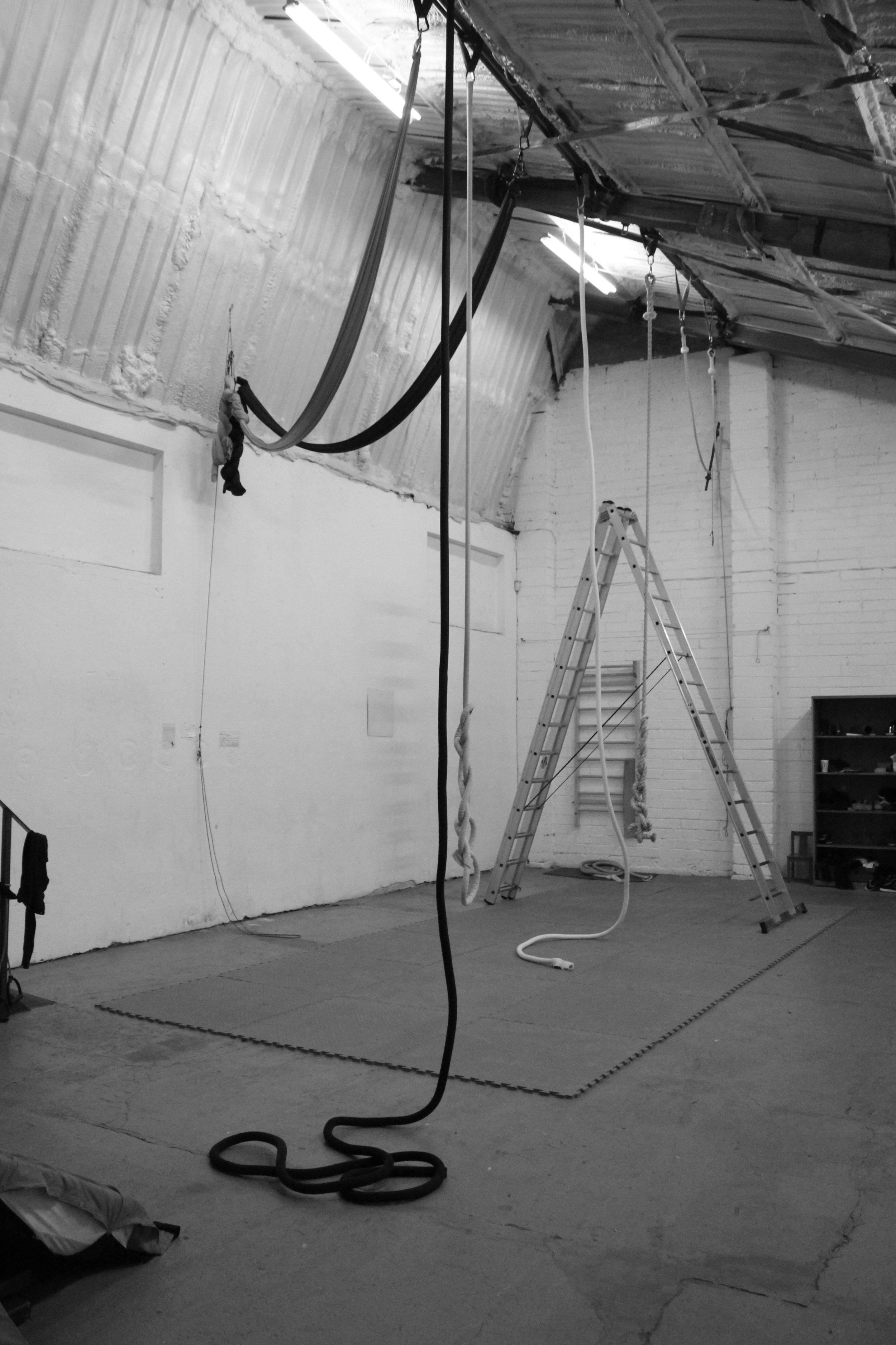 Saturday morning Aerial Rope at Dublin Circus Project