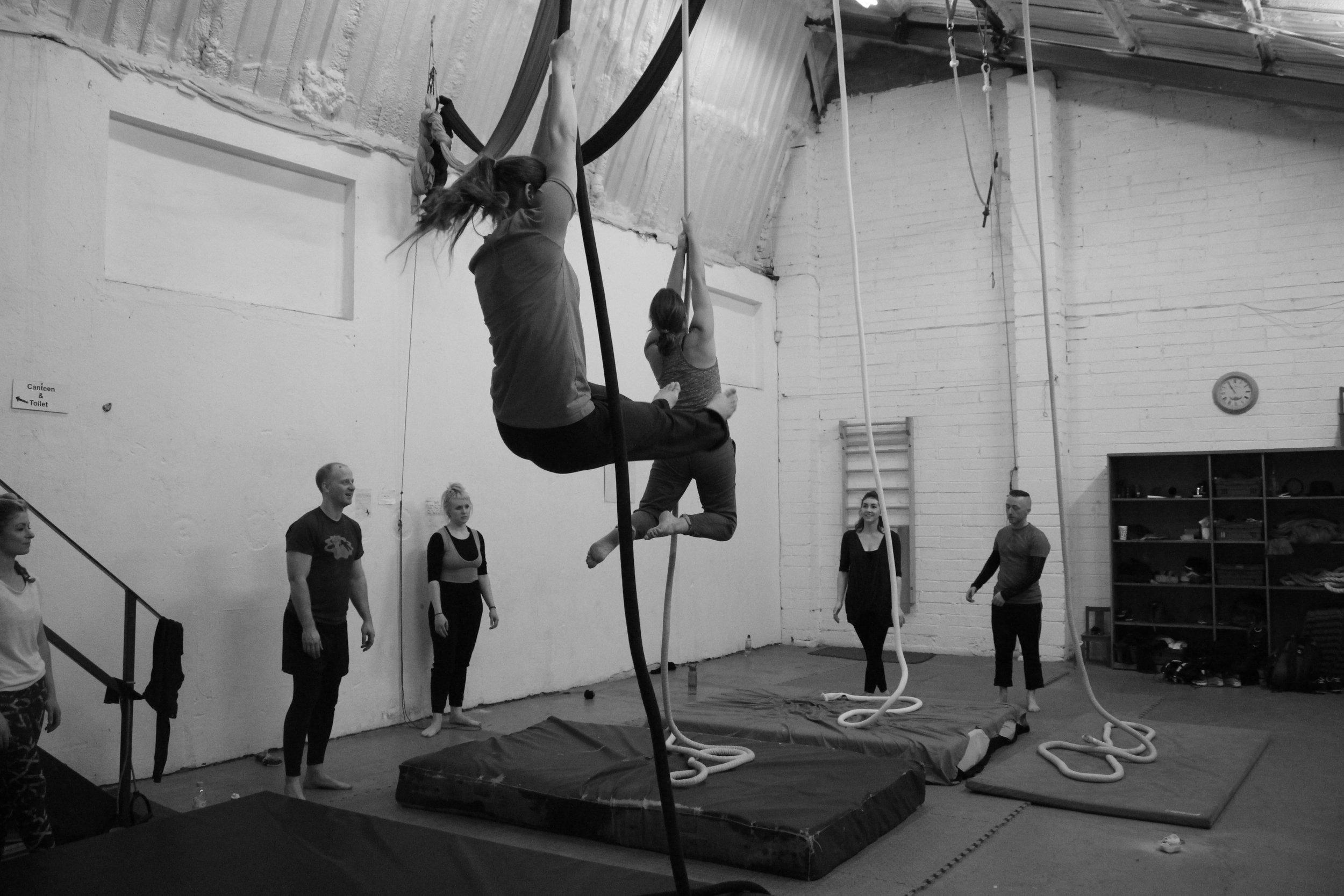 Beats! Saturday morning Aerial Rope at Dublin Circus Project.