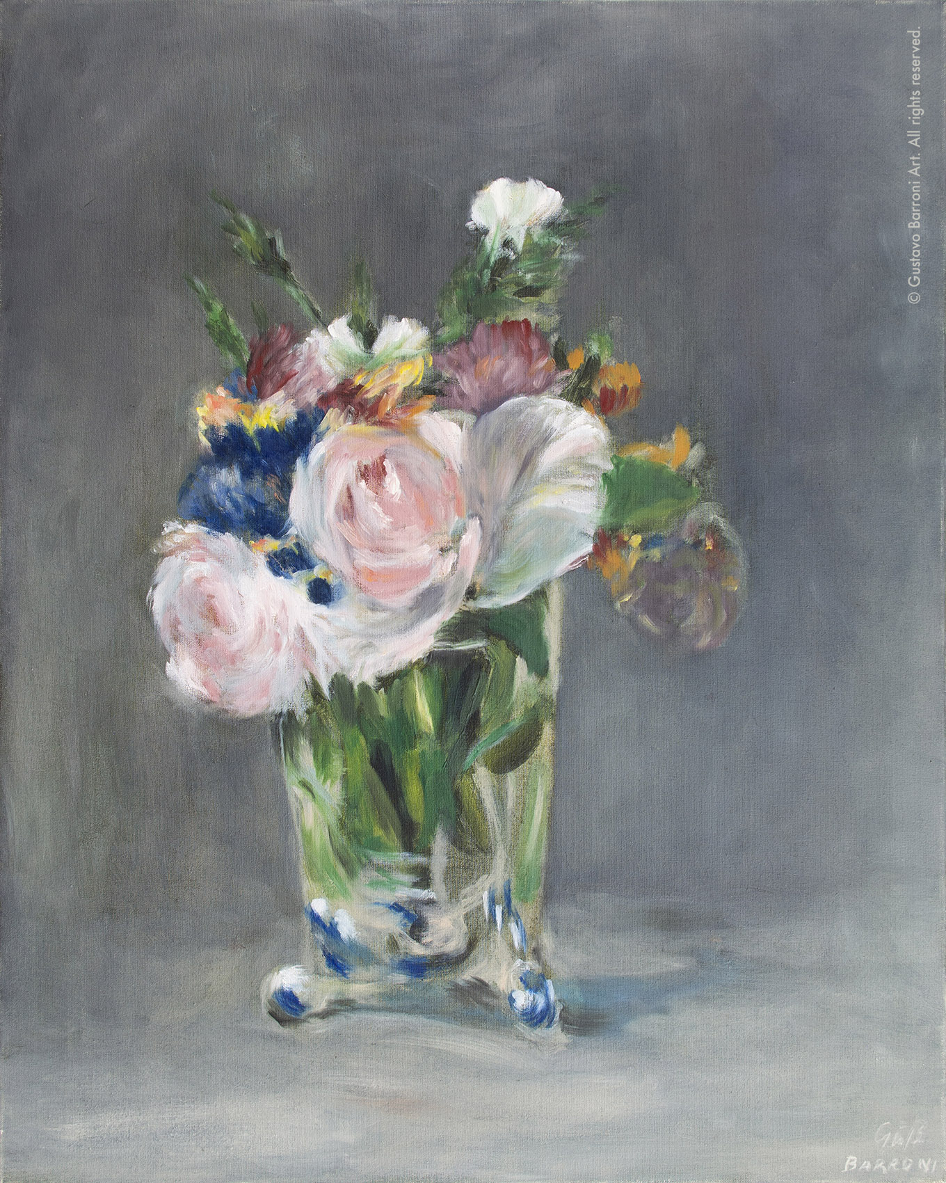 Copy of FLOWERS IN A CRYSTAL VASE