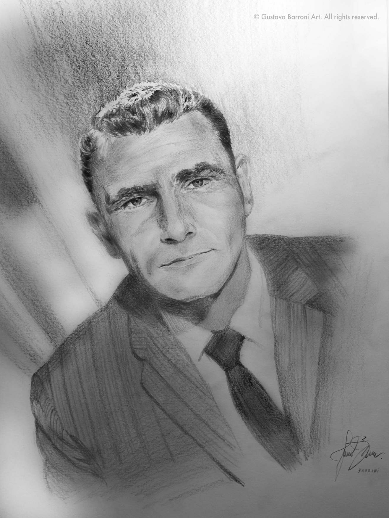 Rod Serling portrait