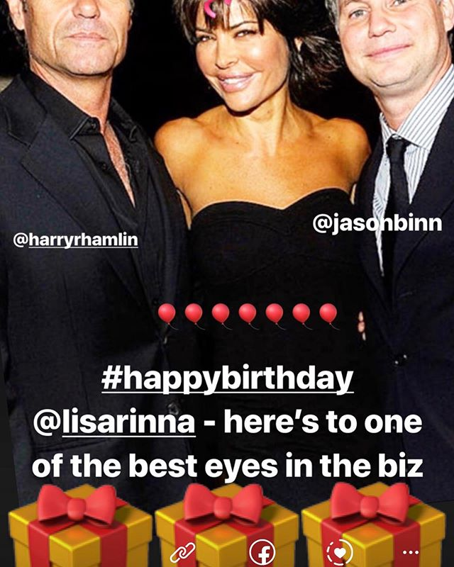 #HappyBirthday @lisarinna - one of the truly best eyes in the fashion business. And a heart of gold. cc: @harryrhamlin @jasonbinn @dujourmedia #SoDuJour #ExclusivelyDuJour #DuJour #LisaRinna