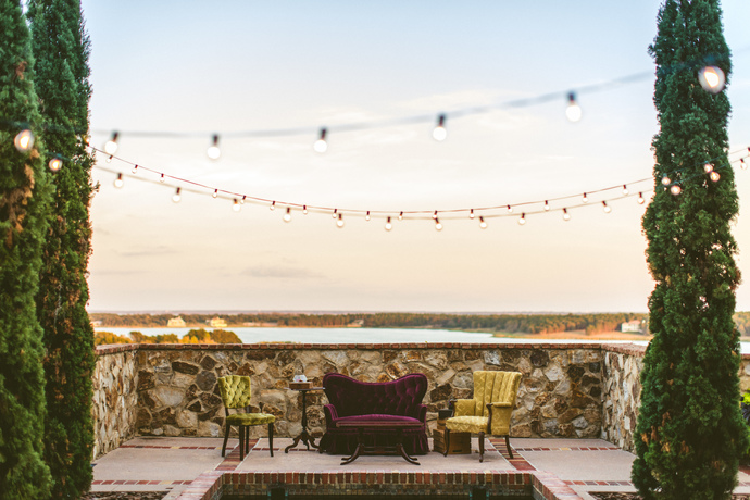 The view and sunset behind  Marie ,  Valentino ,  Vivian ,  Christian  and  Galliano  create one stunning social lounge. Krystina and Joseph took advantage of the collection pieces and had a fun portrait session.